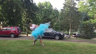 Cool baseball gender reveal - Video