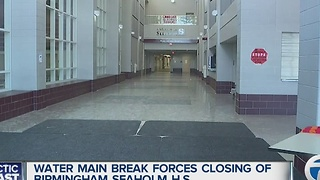 Water main break closes Seaholm High School - Video