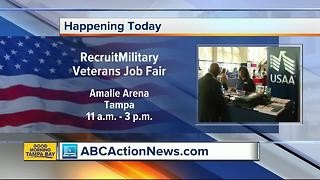 97 companies look to hire veterans at job fair in Tampa on Thursday - Video