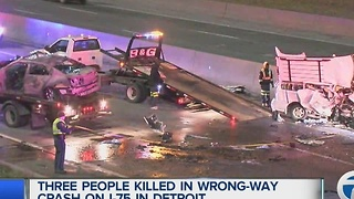 Three killed in wrong way crash on I-75 - Video