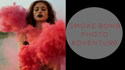 Model's dazzling smoke bomb photo shoot