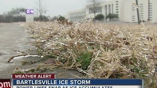 Bartlesville icy conditions - Video