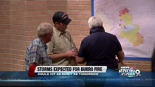 Storms are expected to hit over Burro Fire starting this weekend - Video