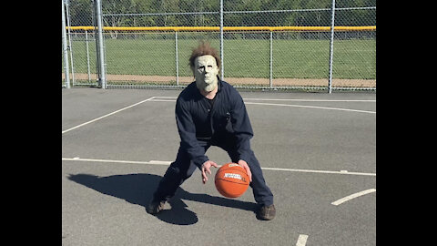 Horror ICON MICHAEL MYERS Attempts to Play Basketball