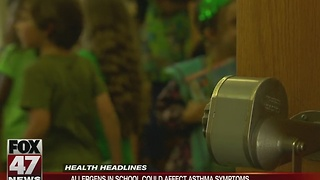 Allergens in school could affect asthma symptoms - Video