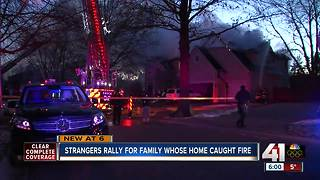 Strangers offer up house after fire destroys Leawood family's home - Video