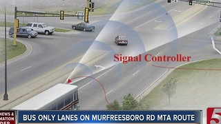'Bus Only' Lanes Get Green Light On Murfreesboro Pike - Video