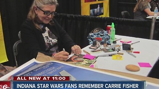 Indiana Star Wars fan remembers 'glittery' meeting with Carrie Fisher - Video