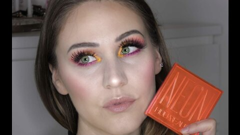 Neon summer inspired makeup tutorial