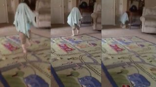 Uh oh – Adorable baby runs into wall after excitable game goes wrong