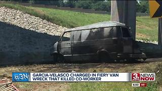 Fatal fiery van crash driver in court - Video