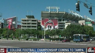 College football championship coming to Tampa - Video