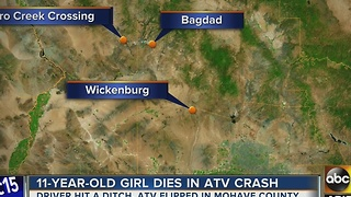 11-year-old girl dies in ATV crash in Mohave County - Video