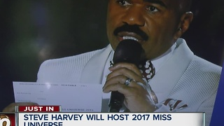 Steve Harvey to host 2017 Miss Universe - Video
