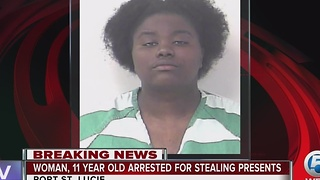 21-year-old woman, 11-year-old girl accused of stealing Christmas presents in Port St. Lucie - Video