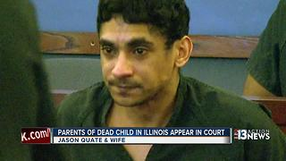 Parents of dead child in Illinois appear in court - Video