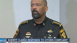 Sheriff Clarke responds to man's complaint he abused power: 'They may get knocked out' - Video