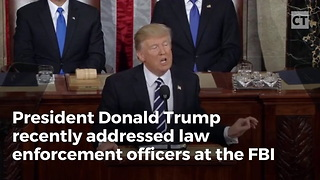 Trump Gives Powerful Address to Officers at FBI Academy - Video