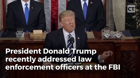 Trump Gives Powerful Address to Officers at FBI Academy