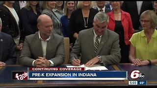 Gov. Eric Holcomb signed Indiana's Pre-K program expansion - Video