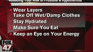 Reduce risk of hypothermia, frostbite during extreme cold weather - Video