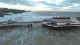 Storm-Churned Waves Batter Pier in Cromer, Norfolk - Video