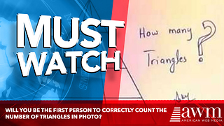 Will You Be The First Person To Correctly Count The Number Of Triangles In Photo? - Video