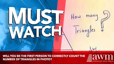 Will You Be The First Person To Correctly Count The Number Of Triangles In Photo?