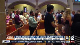 Prayer service held for missing Loyola University student - Video
