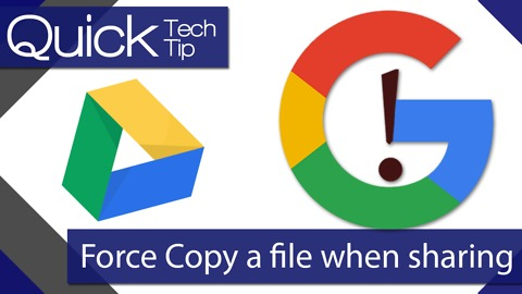 How to Force users to make their own Copy of a file