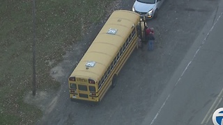 Suspected drunk driver rear-ends Taylor school bus carrying 22 kids - Video