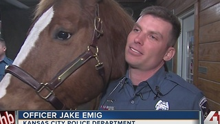 Mounted patrol horse retires after 8 years with KCPD - Video