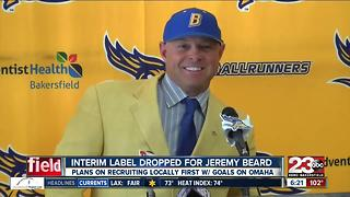 Jeremy Beard introduced as new CSUB head baseball coach with goal to recruit locally - Video