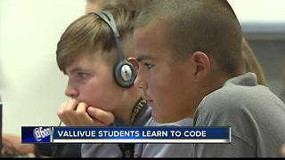 Vallivue students learn to code - Video