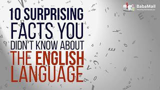 10 surprising things you did not know about the English language - Video