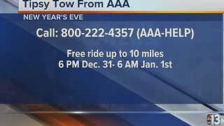 AAA offering free rides home on New Year's Eve - Video