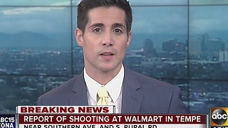 Police investigating reports of a shooting at Walmart - Video