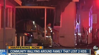 Community rallying around family that lost two kids in fire - Video