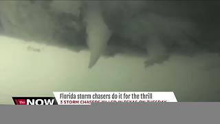 Florida storm chasers do it for the thrill - Video