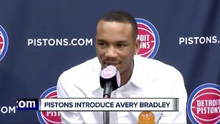Pistons introduce Avery Bradley - Video