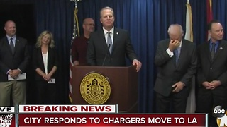 City responds to Chargers move to LA - Video