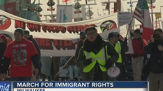 Milwaukeeans march for immigration rights - Video