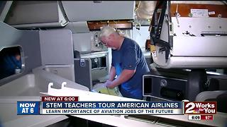 STEM Teachers tour American Airlines - Video