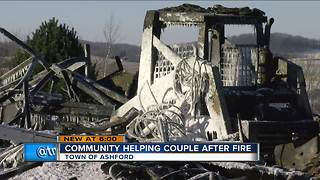 Fire destroys Fond du Lac county home on New Year's Eve - Video