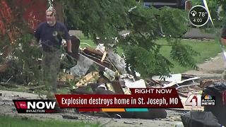 Explosion rocks St. Joseph home Independence Day morning, 3 injured - Video
