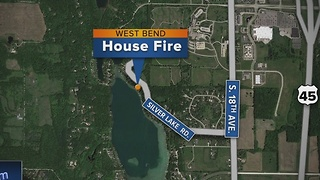 3 injured in West Bend house fire - Video