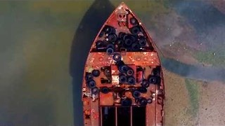 Staten Island Boat Graveyard Looks Oddly Beautiful From The Air - Video