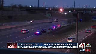 71 Highway back open after fatal morning crash at 22nd Street - Video