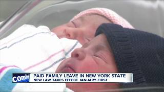 Paid family leave goes into effect Jan 1 - Video