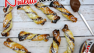 How to make 2-ingredient Nutella twisters - Video